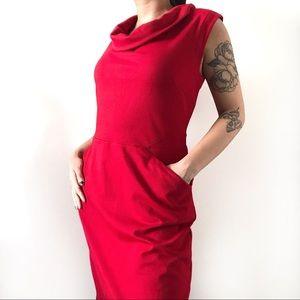 🌹 Banana Republic Women's Casual Red Dress 🌹